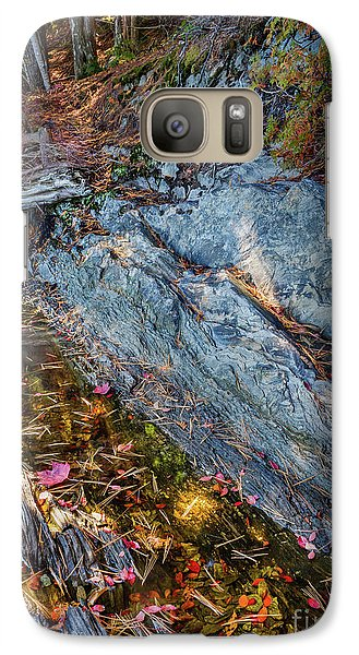 Galaxy Case featuring the photograph Forest Tidal Pool In Granite, Harpswell, Maine  -100436-100438 by John Bald