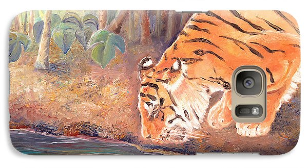 Galaxy Case featuring the painting Forest Tiger by Elizabeth Lock