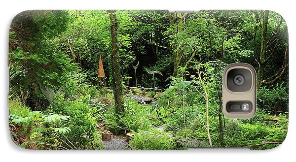 Galaxy Case featuring the photograph Forest Walk by Aidan Moran