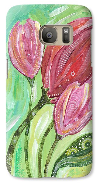 Galaxy Case featuring the painting Forever In Bloom by Tanielle Childers