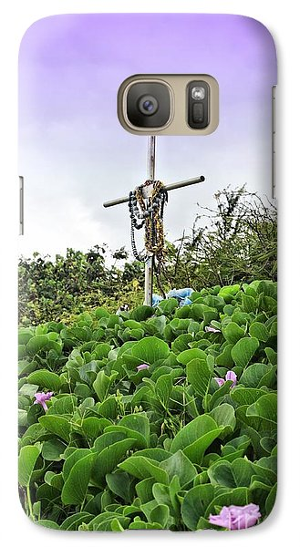 Galaxy Case featuring the photograph Forget Me Not by DJ Florek