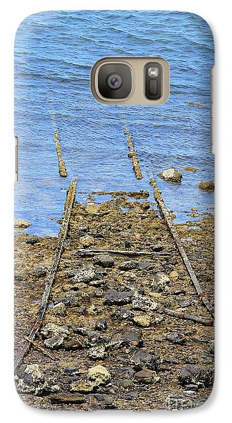 Galaxy Case featuring the photograph Forgotten Line by Stephen Mitchell