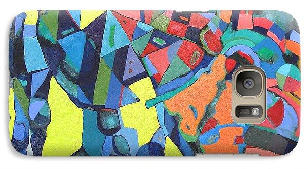 Galaxy Case featuring the painting Forgotten Memories Of Broken Promises by Bernard Goodman