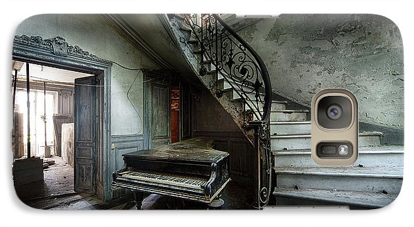 Galaxy Case featuring the photograph The Sound Of Decay - Abandoned Piano by Dirk Ercken