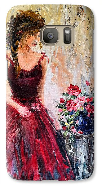 Galaxy Case featuring the painting Forgotten Rose by Jennifer Beaudet