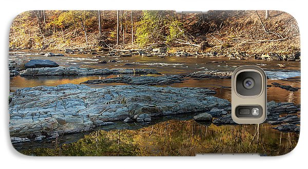 Galaxy Case featuring the photograph Fork River Reflection In Fall by Iris Greenwell