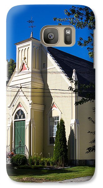 Galaxy Case featuring the photograph Former Methodist Yarmouth Me by Dick Botkin