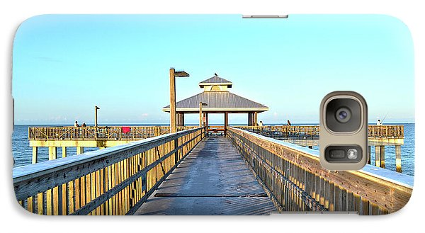 Galaxy Case featuring the photograph Fort Myers Beach Florida Fishing Pier by Timothy Lowry