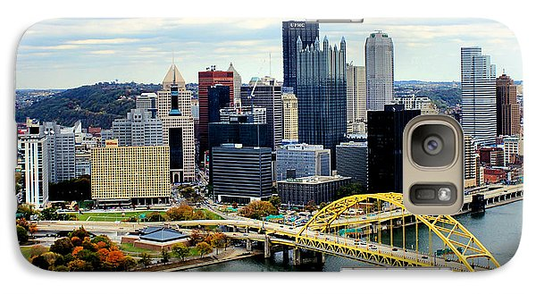 Galaxy Case featuring the photograph Fort Pitt Bridge by Michelle Joseph-Long