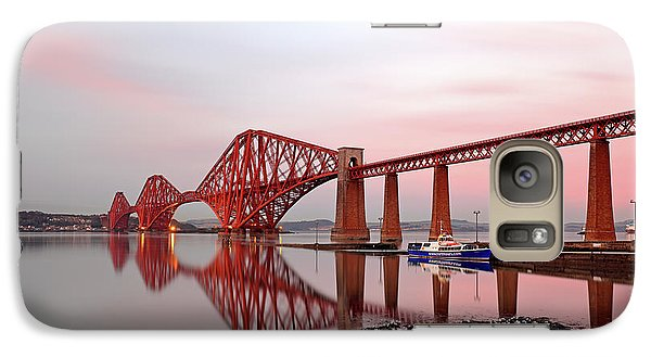 Galaxy Case featuring the photograph Forth Railway Bridge Sunset by Grant Glendinning