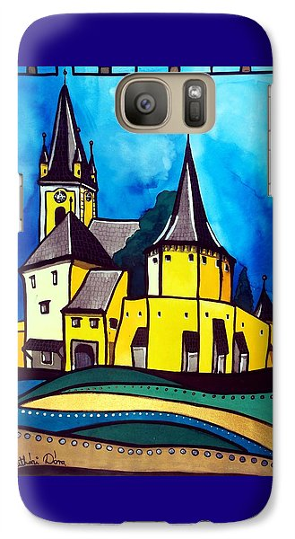 Fortified Medieval Church In Transylvania By Dora Hathazi Mendes Galaxy S7 Case by Dora Hathazi Mendes
