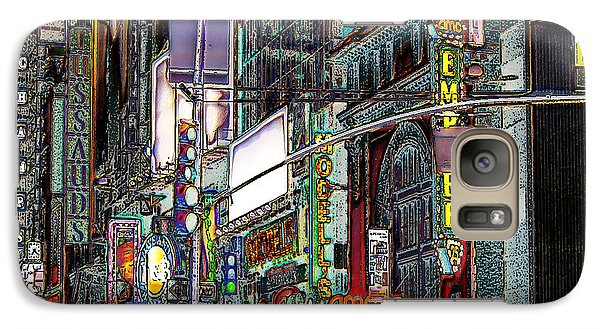 Galaxy Case featuring the photograph Forty Second And Eighth Ave N Y C by Iowan Stone-Flowers