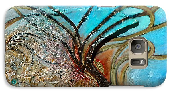 Galaxy Case featuring the painting Fossil In The Deep by Suzanne McKee