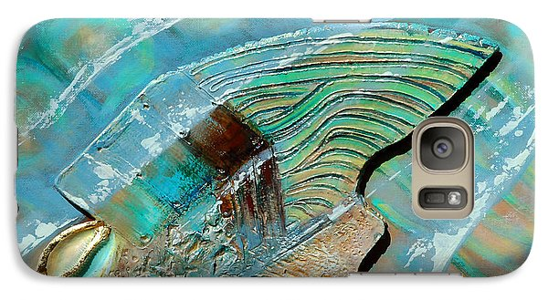 Galaxy Case featuring the painting Fossil On The Shore by Suzanne McKee