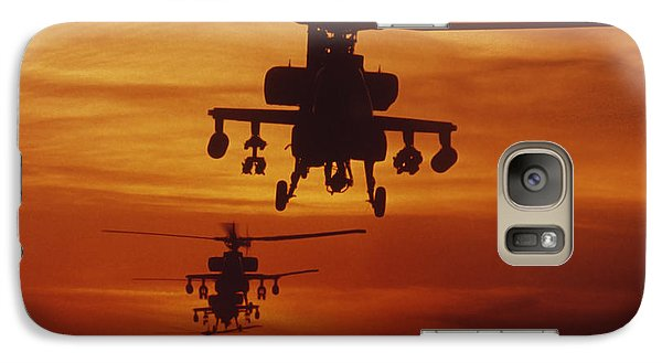 Helicopter Galaxy S7 Case - Four Ah-64 Apache Anti-armor by Stocktrek Images