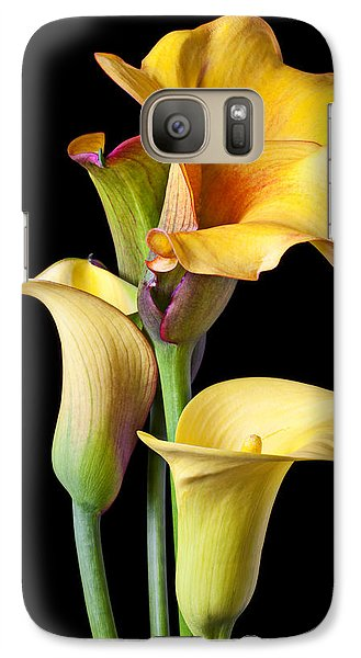 Lily Galaxy S7 Case - Four Calla Lilies by Garry Gay