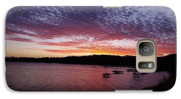 Galaxy Case featuring the photograph Four Elements Sunset Sequence 1 Coconuts Qld  by Kerryn Madsen - Pietsch