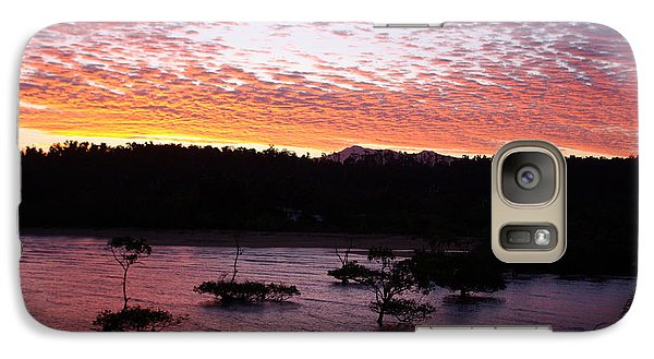 Galaxy Case featuring the photograph Four Elements Sunset Sequence 3 Coconuts Qld by Kerryn Madsen - Pietsch