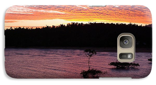 Galaxy Case featuring the photograph Four Elements Sunset Sequence 5 Coconuts Qld  by Kerryn Madsen - Pietsch