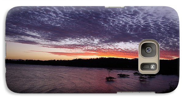 Galaxy Case featuring the photograph Four Elements Sunset Sequence 7 Coconuts Qld  by Kerryn Madsen - Pietsch