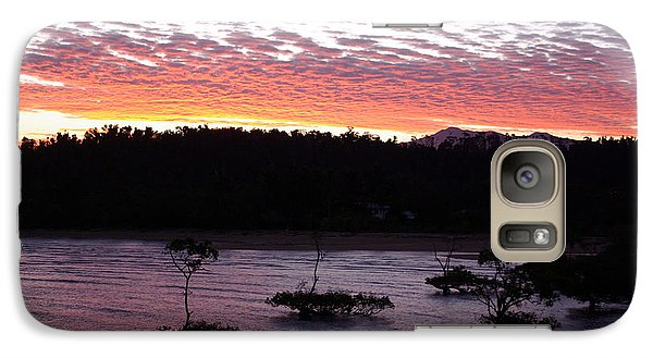 Galaxy Case featuring the photograph Four Elements Sunset Sequence 8 Coconuts Qld  by Kerryn Madsen - Pietsch