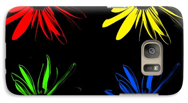 Galaxy Case featuring the photograph Four Flowers by Maggy Marsh