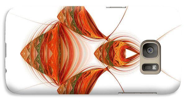 Galaxy Case featuring the digital art Four Fractal Fishies by Richard Ortolano