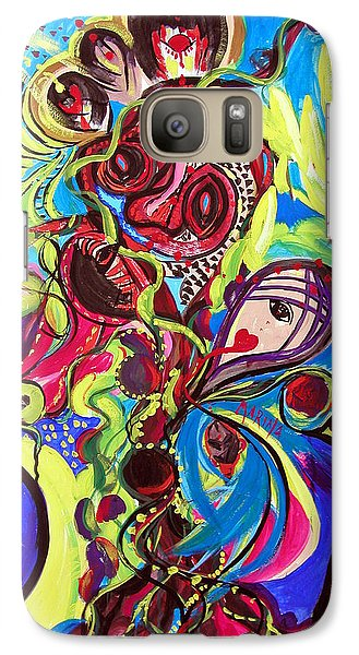Galaxy Case featuring the painting Experimenting With Creation by Marina Petro