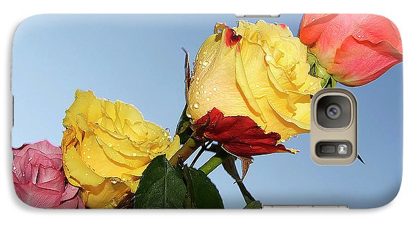 Galaxy Case featuring the photograph Four Roses by Elvira Ladocki