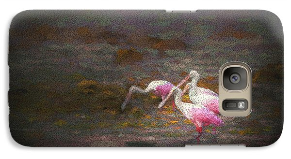 Spoonbill Galaxy S7 Case - Four Spoons On The Marsh by Marvin Spates
