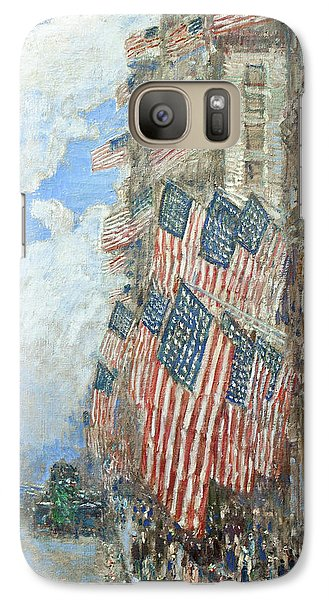 Galaxy Case featuring the painting Fourth Of July, 1916 by Frederick Childe Hassam