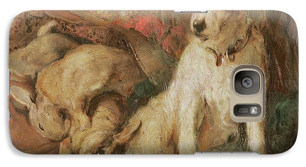 Fox Terrier With The Day's Bag Galaxy Case by English School