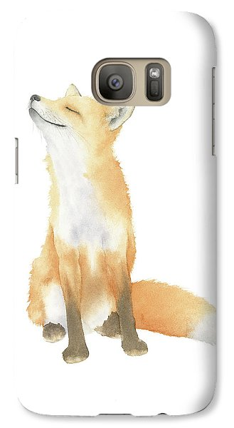 Galaxy Case featuring the painting Fox Watercolor by Taylan Apukovska