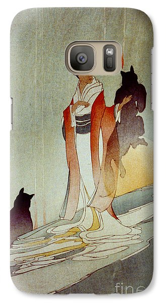 Galaxy Case featuring the photograph Fox Woman 1912 by Padre Art