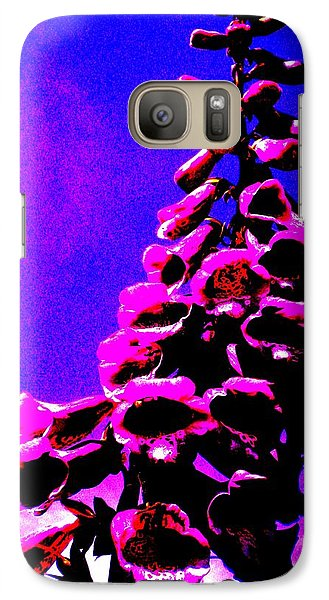 Galaxy Case featuring the painting Foxglove by Renate Nadi Wesley