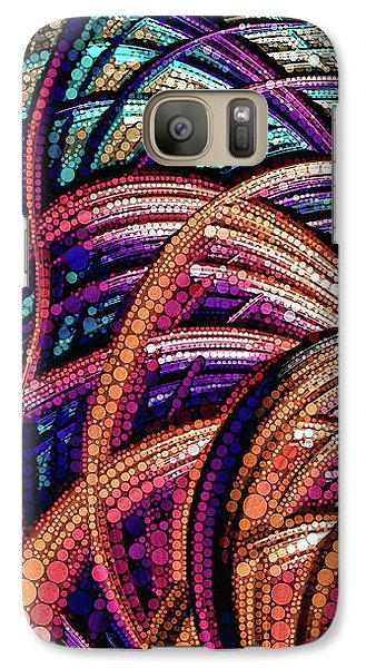 Galaxy Case featuring the painting Fractal Farrago by Susan Maxwell Schmidt