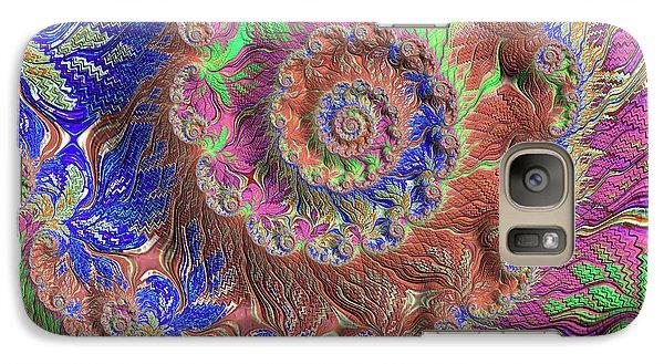 Galaxy Case featuring the digital art Fractal Garden by Bonnie Bruno