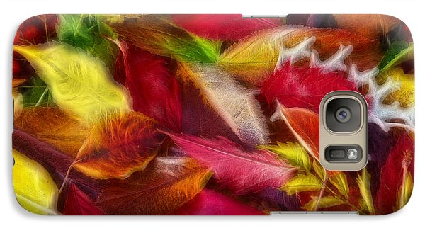 Galaxy Case featuring the photograph Fractalius Leaves by Shane Bechler