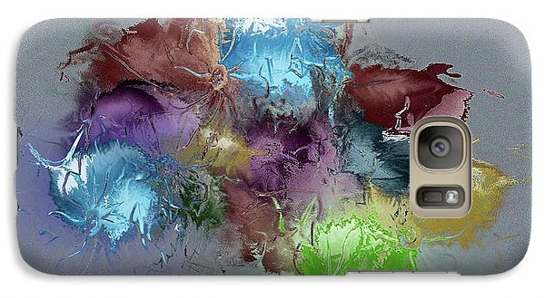 Galaxy Case featuring the digital art Fractured Bouqet 1 Pc by John Krakora