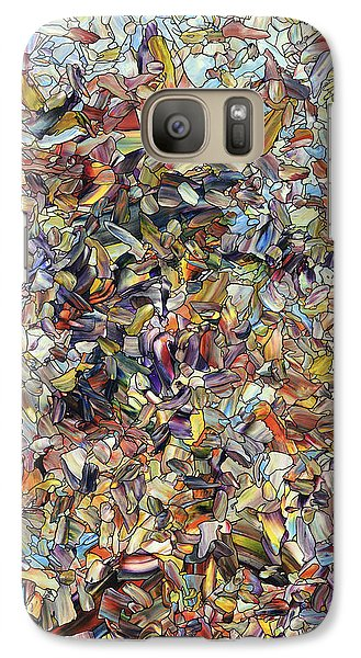 Galaxy Case featuring the painting Fragmented Horse by James W Johnson