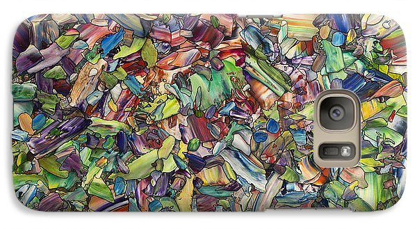 Galaxy Case featuring the painting Fragmented Spring by James W Johnson