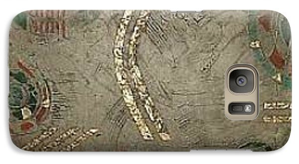 Galaxy Case featuring the painting Fragments From Atlantis by Bernard Goodman