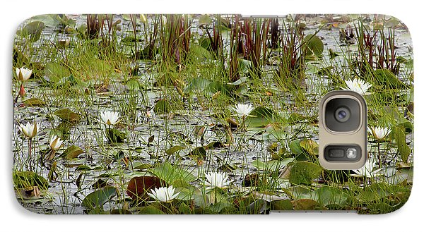Galaxy Case featuring the photograph Fragrant White by Susan Cole Kelly
