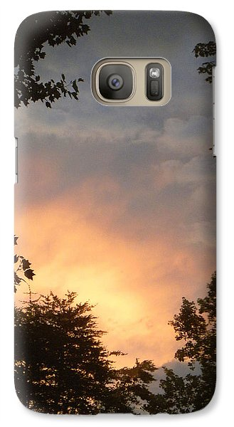 Galaxy Case featuring the photograph Framed Fire In The Sky by Sandi OReilly