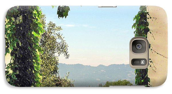 Galaxy Case featuring the photograph Framing Napa Valley by Joan  Minchak