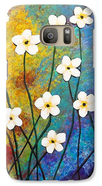Frangipani Explosion Galaxy S7 Case by Teresa Wing