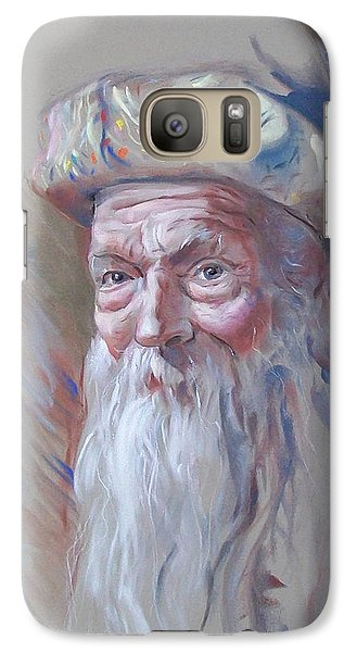 Galaxy Case featuring the pastel Frank by John Norman Stewart