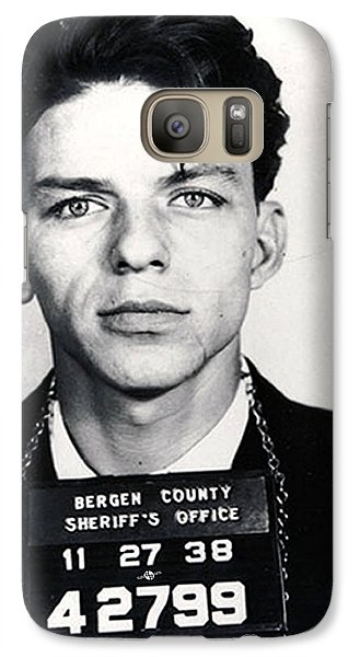 Frank Sinatra Mug Shot Vertical Galaxy S7 Case by Tony Rubino