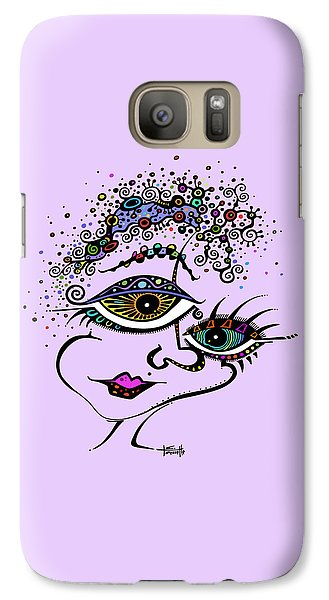 Galaxy Case featuring the drawing Frazzled by Tanielle Childers