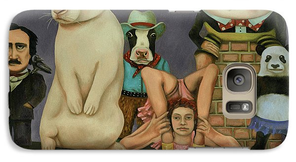 Galaxy Case featuring the painting Freak Show by Leah Saulnier The Painting Maniac